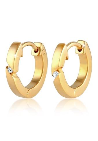 Diamore Paar Creolen »Creolen Basic Diamant (0.04 ct.) 925 Silber« kaufen