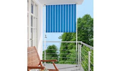 ANGERER FREIZEITMÖBEL Klemm - Senkrechtmarkise blau/weiß, BxH: 120x225 cm kaufen
