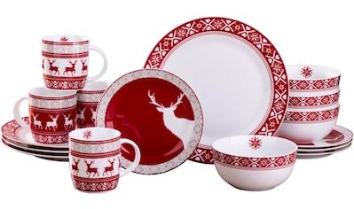 "Retsch Arzberg Kombiservice ""Nordic Reindeer"" (16 - tlg.), Porzellan kaufen"