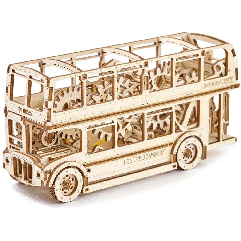 Wooden City Modellbausatz »Doppeldeckerbus«, aus Holz; Made in Europe