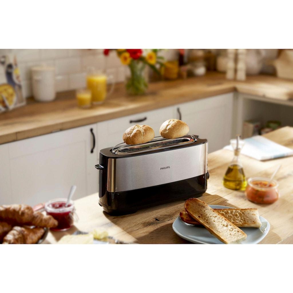 Philips Toaster »HD2692/90«, 1 langer Schlitz, für 2 Scheiben, 950 W