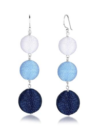 Elli Paar Ohrhänger »Ohrhänger Kugel Bunt Geo Multicolor 925 Silber« kaufen