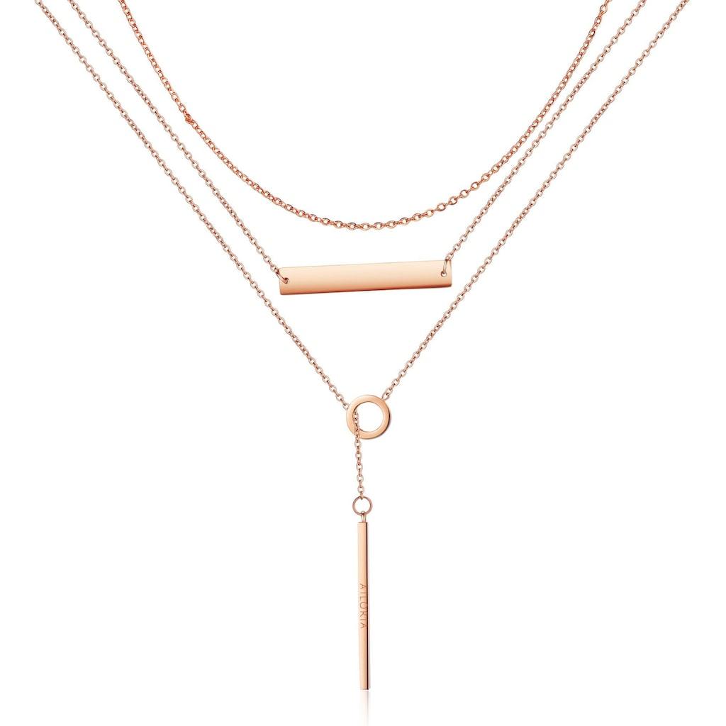 AILORIA Kette mit Anhänger »ARIELLE Halskette Roségold«, Hochglanz-Finish