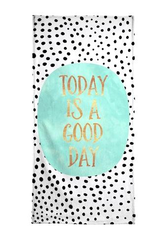 Juniqe Strandtuch »Today Is a Good Day«, (1 St.), Weiche Frottee-Veloursqualität kaufen