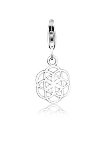 Nenalina Charm-Einhänger »Anhänger Blume des Lebens Ornament 925 Silber« kaufen