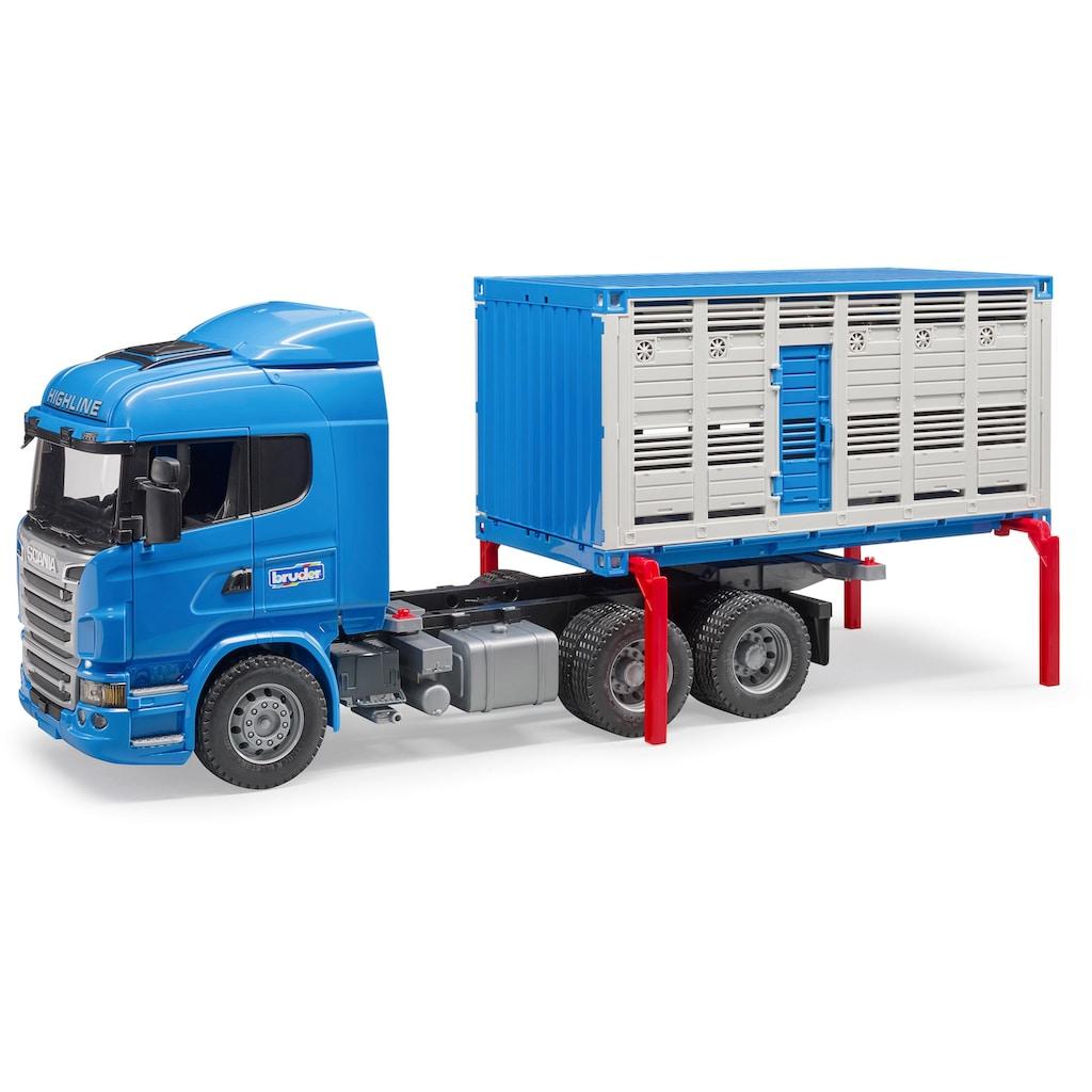 Bruder® Spielzeug-Transporter »Scania R-Serie Tiertransporter mit 1 Rind«, Made in Germany