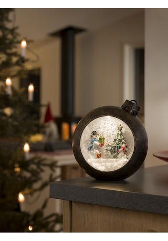 KONSTSMIDE LED Weihnachtskugel mit Schneemänner kaufen
