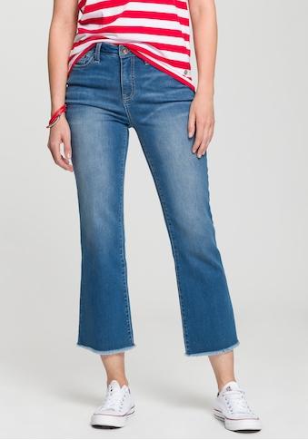 H.I.S Bootcut - Jeans »cropped, High - Waist« kaufen