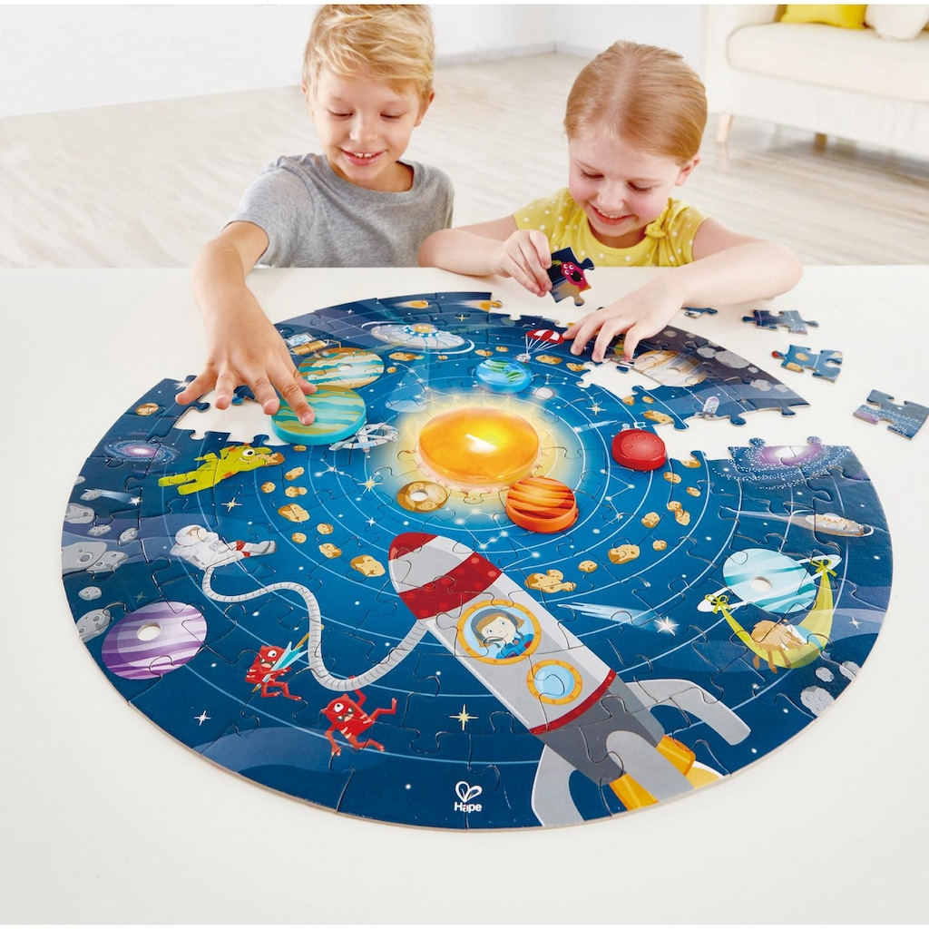 Hape Puzzle »Sonnensystem«, mit Licht