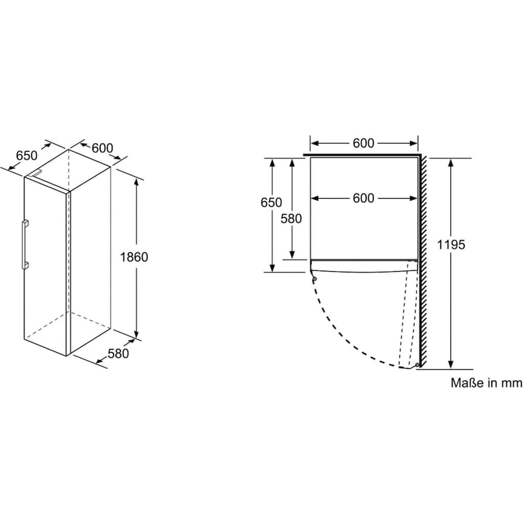 SIEMENS Gefrierschrank »GS36NAIDP«, iQ500, 186 cm hoch, 60 cm breit