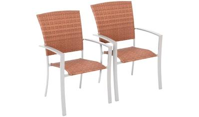 MERXX Set: Gartenstuhl »Savonna«, (2er Set), Polyrattan, stapelbar kaufen