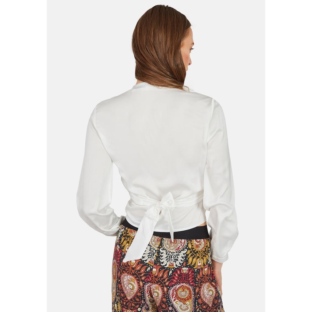 Nicowa Wickel-Bluse mit Rücken-Schleife und V-Ausschnitt - NOMAR