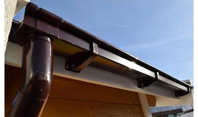 WEKA Kastendachrinne »Set Gr.4«, braun, Für Pultdächer bis 650 cm kaufen