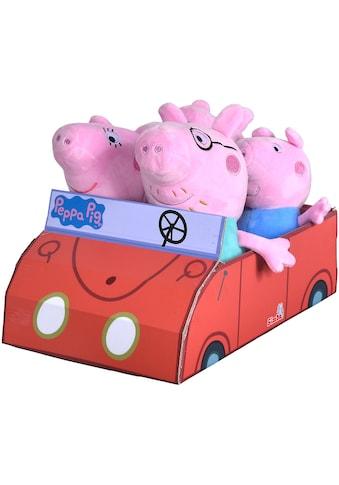 "SIMBA Kuscheltier ""Peppa Pig, Familie im Auto"", (Set, 4 Stück) kaufen"