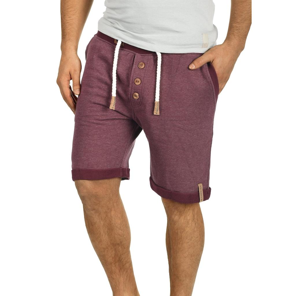 Indicode Sweatshorts »BillyShorts«, kurze Hose mit Holzknopfleiste