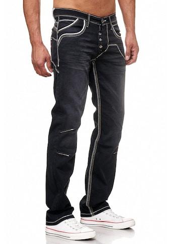 Rusty Neal Jeans mit praktischem Knopfverschluss kaufen