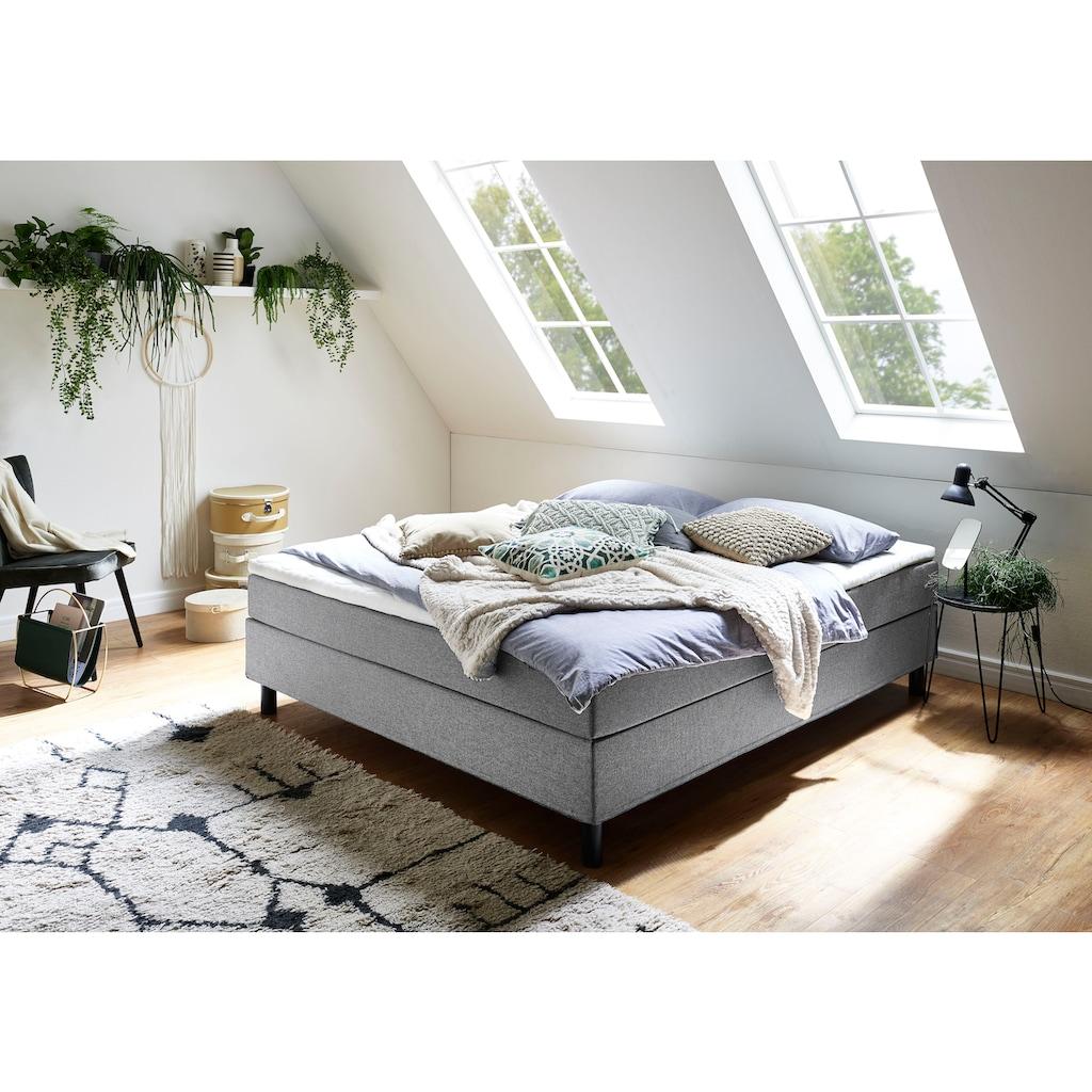 ATLANTIC home collection Boxbett, ohne Kopfteil, mit Topper, wahlweise mit oder ohne Bettwaren