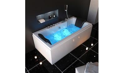 HOME DELUXE Whirlpool-Badewanne »White M Light«, B/T/H in cm: 180/90/56 kaufen
