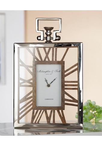 GILDE Standuhr »Uhr Rusto«, Höhe 34 cm, eckig, römische Ziffern, Wohnzimmer kaufen
