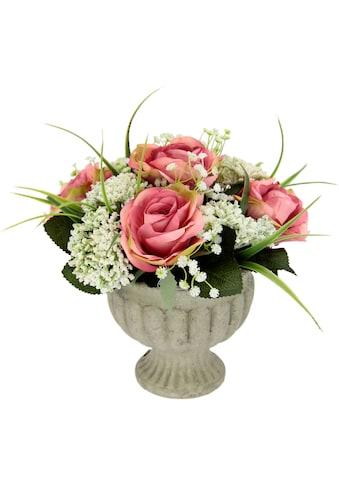 I.GE.A. Kunstpflanze »Arrangement Rosen in Pokal« kaufen