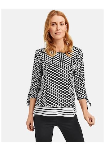 GERRY WEBER Bluse 3/4 Arm »3/4 Arm Bluse mit Mustermix« kaufen