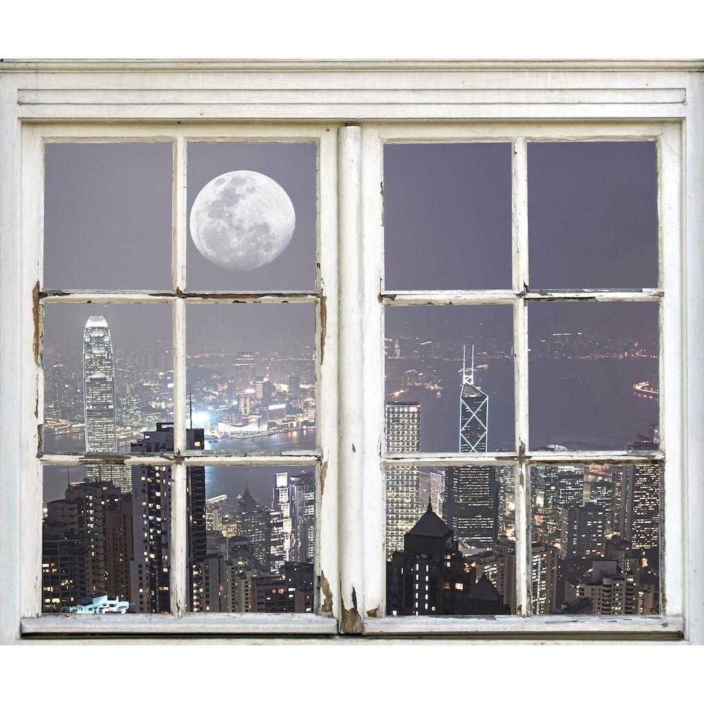 queence Wandsticker »New York City bei Nacht«