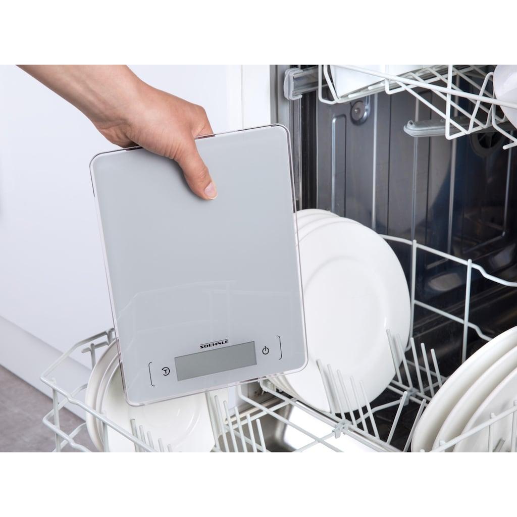 Soehnle Küchenwaage »Page Aqua Proof«, wasserdichtes Gehäuse