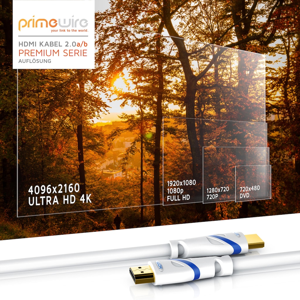 Primewire Ultra HD HDMI Kabel Highspeed 2.0b Standard