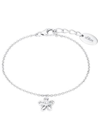 s.Oliver Junior Silberarmband »Blume, 2027456«, mit Zirkonia kaufen