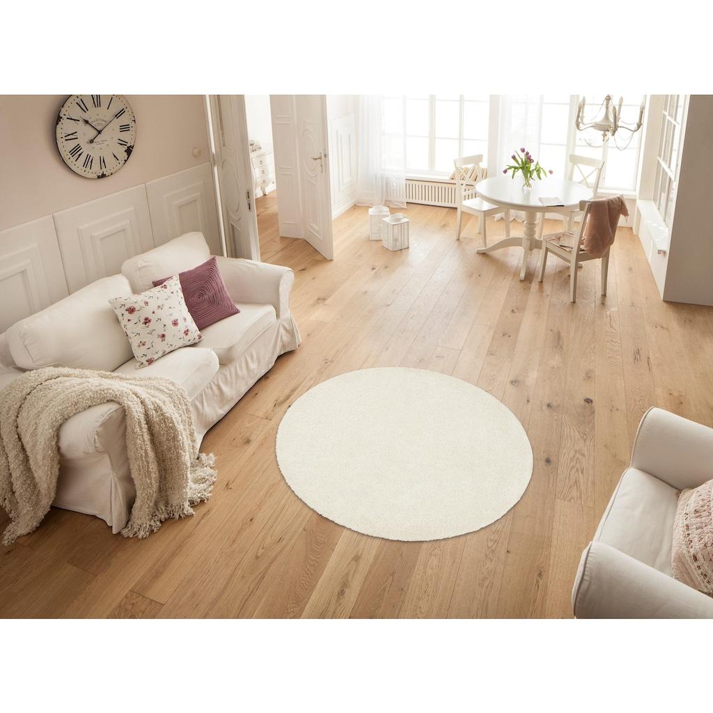 my home Hochflor-Teppich »Bodrum«, rund, 30 mm Höhe, weicher Flor, Wohnzimmer