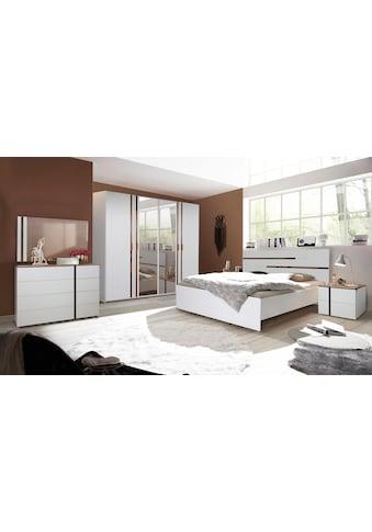 my home Einzelbett »Alia«, mit Eiche massiv Deko kaufen