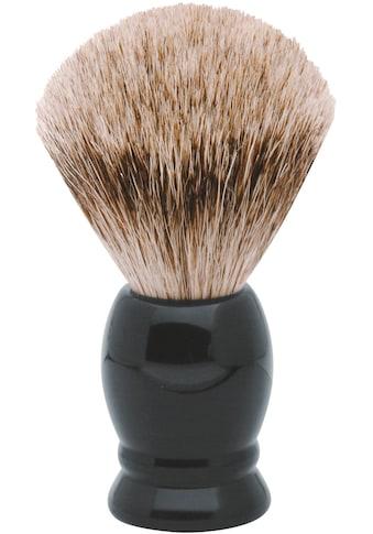 ERBE Rasierpinsel »M«, Dachs-Zupfhaar, schwarzer Kunststoff-Griff kaufen