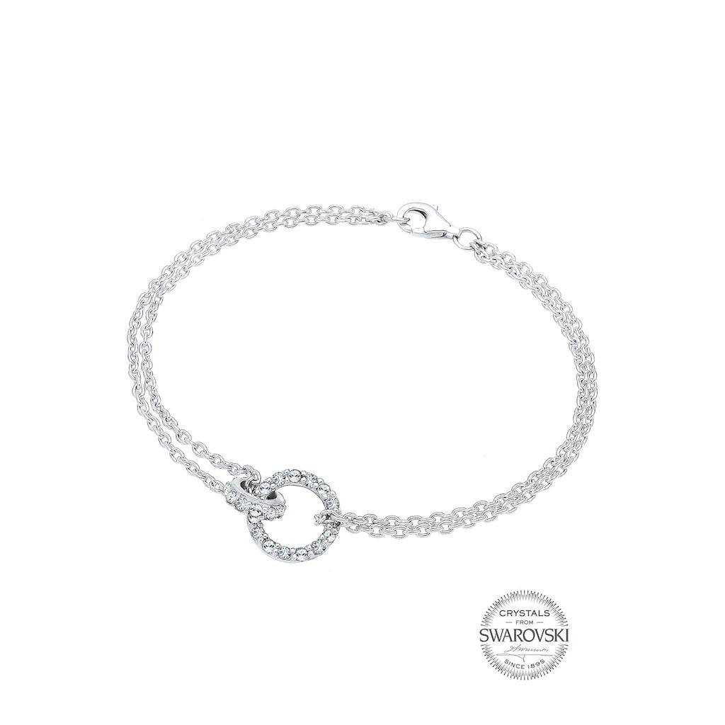 Elli Armband »Kreise Swarovski Kristalle 925 Sterling Silber«