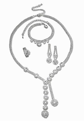 J.Jayz Schmuckset »edel und elegant«, mit Glassteinen kaufen