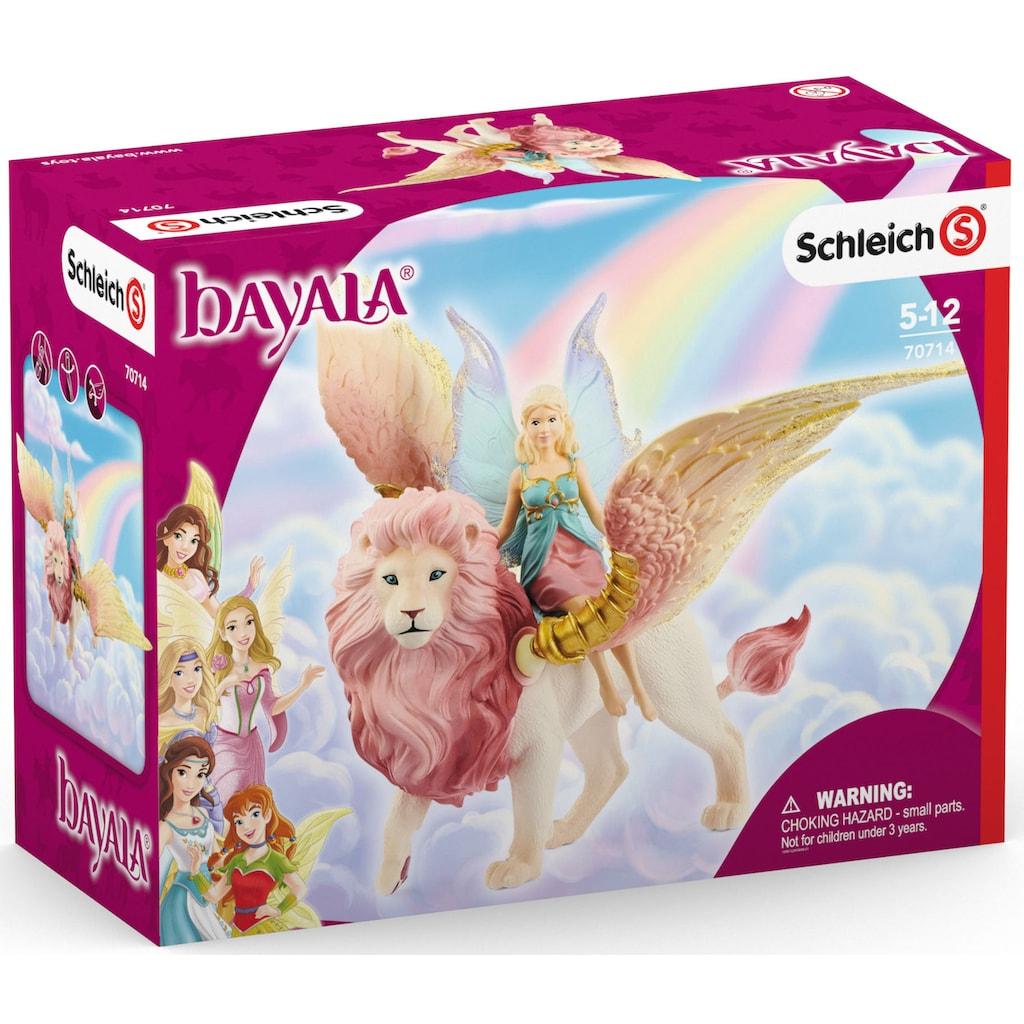 Schleich® Spielfigur »bayala, Elfe auf geflügeltem Löwe (70714)«