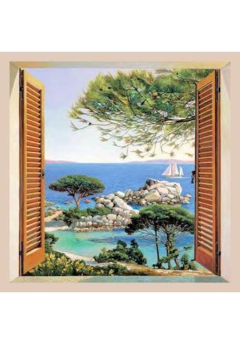 Home affaire Bild »A. D. Missier - Finestra sul Mediterraneo«, mit Rahmen kaufen