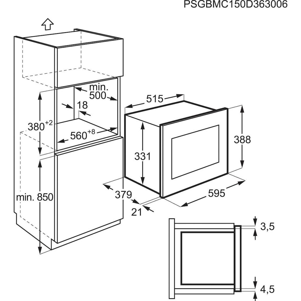 AEG Einbau-Mikrowelle »MSB2547D-M«, Mikrowelle-Grill, 900 W