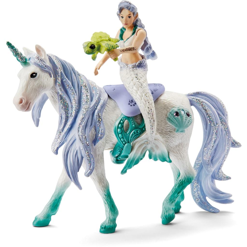 Schleich® Spielfigur »bayala, Meerjungfrau auf Meereseinhorn (42509)«
