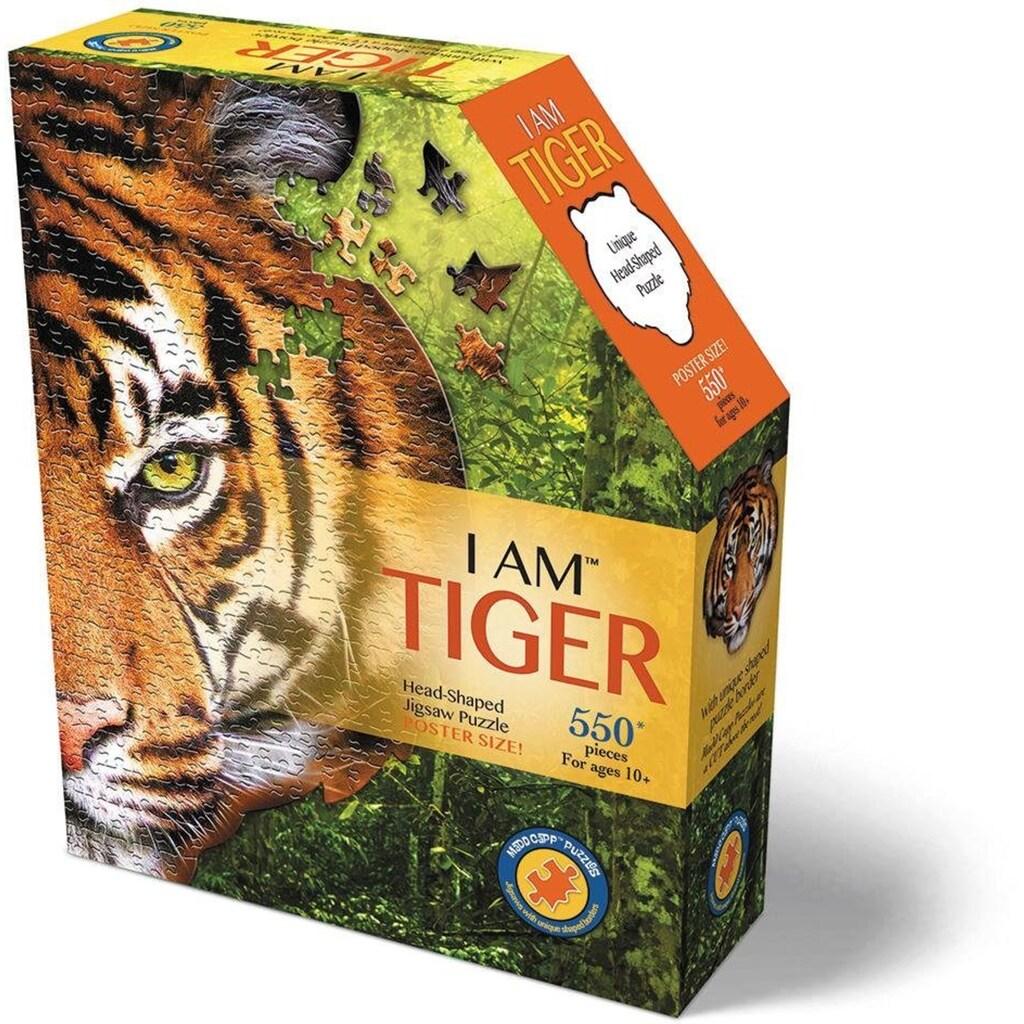 Konturenpuzzle »Tiger«