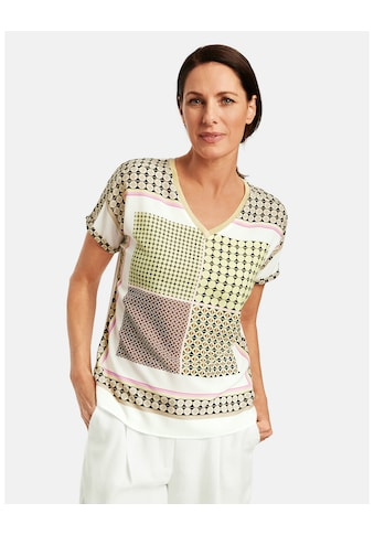 GERRY WEBER T - Shirt 1/2 Arm »Shirt mit Patchmuster« kaufen