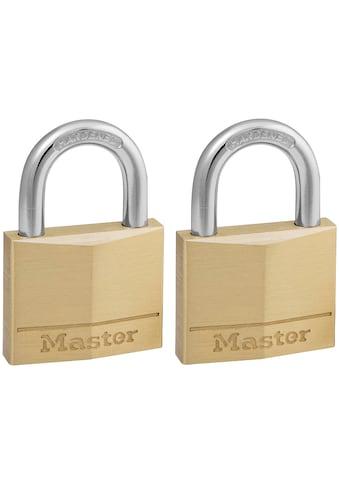 MASTER LOCK Vorhängeschloss 40 mm aus Messing, 2er Pack gleichschließend kaufen