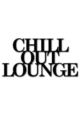 """Home affaire Wandbild »Schriftzug """"Chill out Lounge""""«, Maße (B/H): 60/30 cm kaufen"""