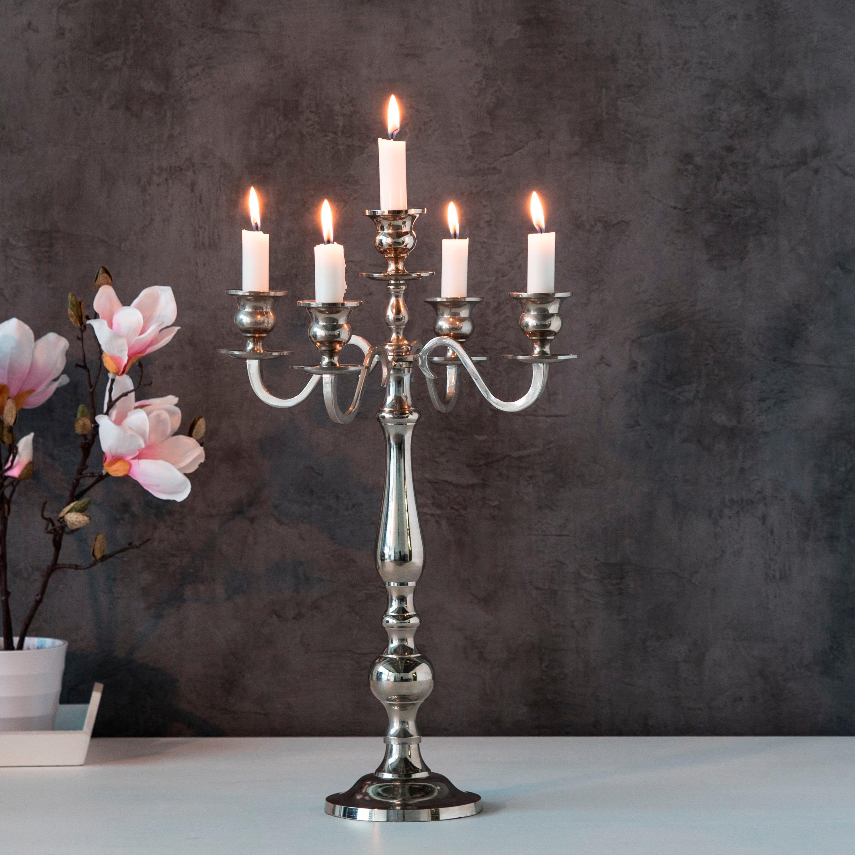 home affaire kerzenleuchter varas f r 5 kerzen h he 35. Black Bedroom Furniture Sets. Home Design Ideas