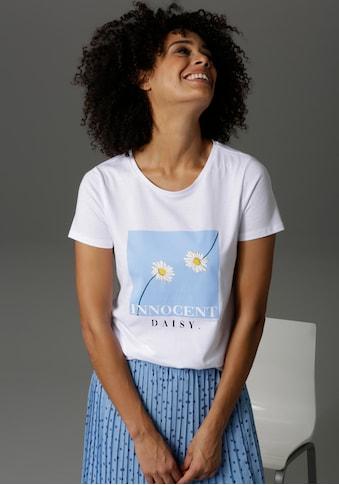 Aniston CASUAL T-Shirt, mit Margeriten und Schriftzug bedruckt - NEUE KOLLEKTION kaufen