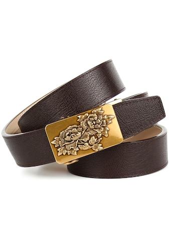 Anthoni Crown Ledergürtel, mit floraler Schließe kaufen