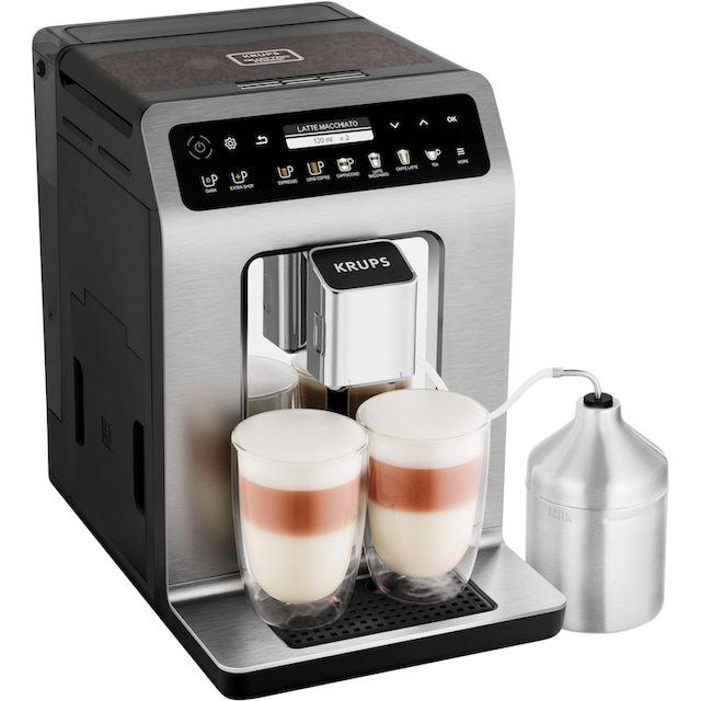 Krups Kaffeevollautomat EA894T Evidence Plus One-Touch-Cappuccino, 2,3l Tank, Kegelmahlwerk