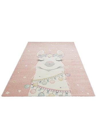 Lüttenhütt Kinderteppich »Lama«, rechteckig, 13 mm Höhe, mit Lama Motiv, Kinderzimmer kaufen
