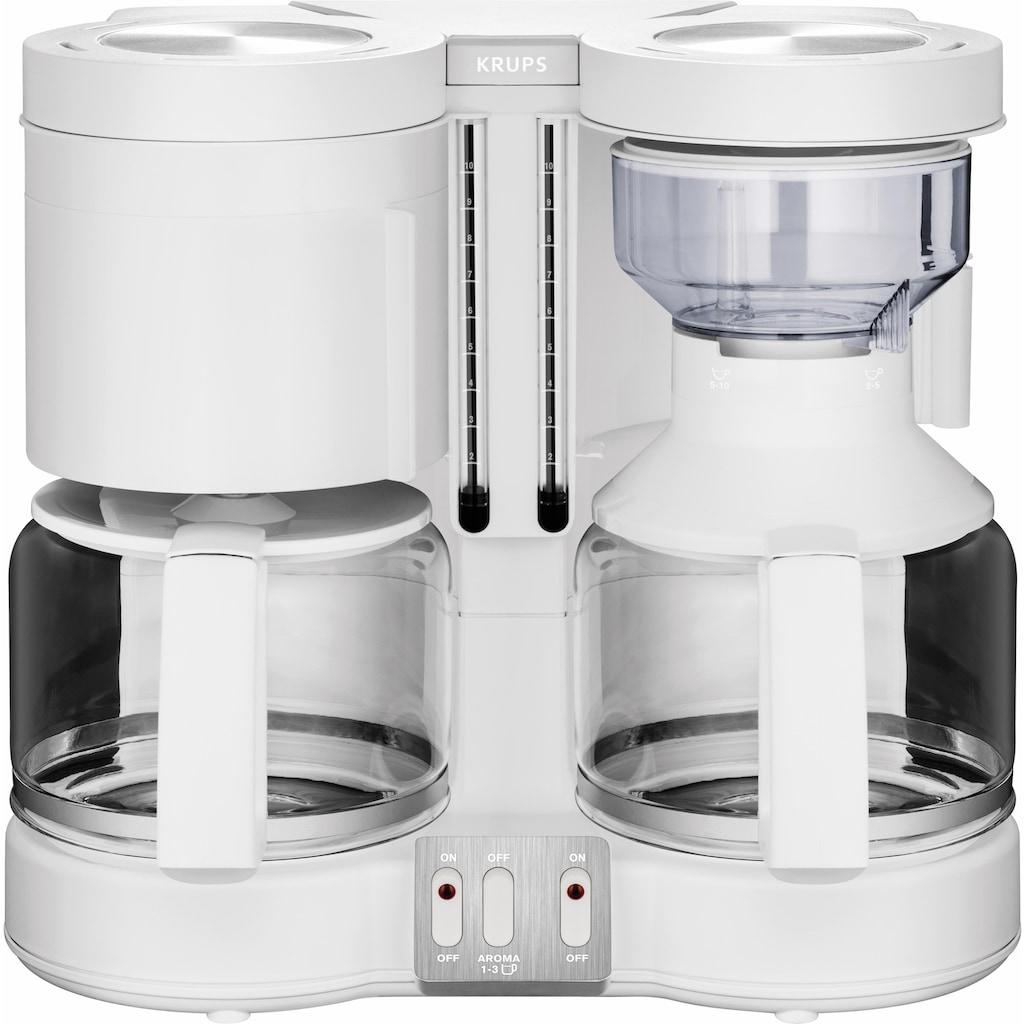 Krups Filterkaffeemaschine »Duothek Plus KM8501«, Papierfilter, 1x4, Kombiautomat für Kaffee und Tee