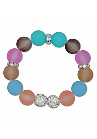 J.Jayz Armband »Kugelarmband in Pastelltönen mit schimmernden Details«, mit... kaufen