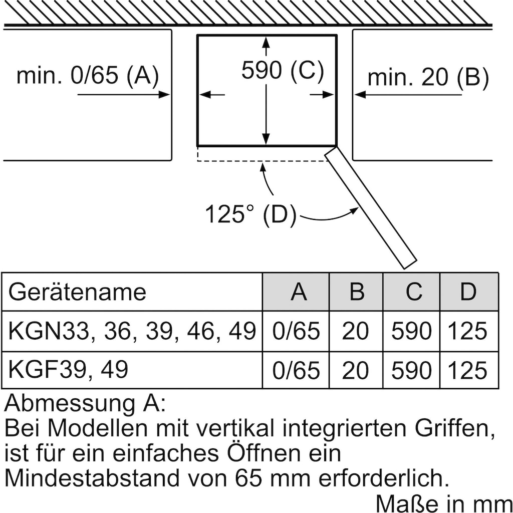 BOSCH Kühl-/Gefrierkombination »KGN36NEA«, 2